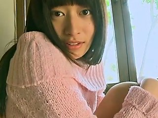 Lovely Asian Girl Kaoru Goto Takes Her Sweater Off